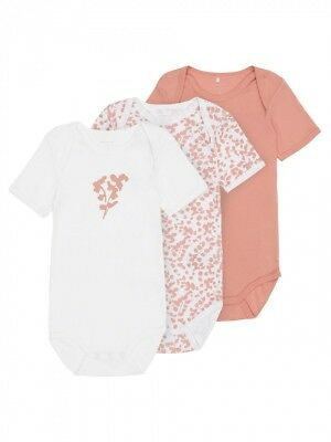 Name it Mini Mädchen Kurzarm-Body 3er Pack in rosa