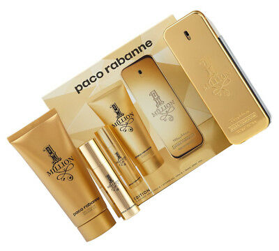 PACO RABANNE 1 ONE MILLION SET 100 ml EDT + 10 ml EDT + 100 ml DUSCHGEL NEU OVP