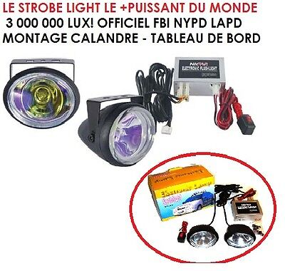 Strobe Light Qualite Marine Visible A 3Km Type Police Fbi Coast Guards Genial !
