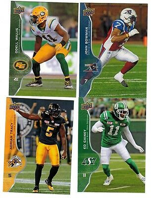 2017 Upper Deck CFL Defense Players Complete Your Set Pick from enclosed list SP