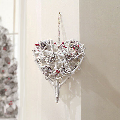 Ghirlanda Natale Shabby chic Pinecones and Berries Collection Small Blanc Maricl