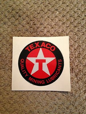 texaco quality mining lubricants Decal Sticker Original Texaco Star