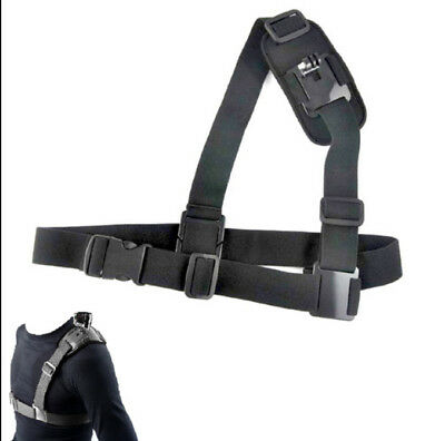 Single Shoulder Strap Mount Chest Harness Belt Adapter for GoPro 1 2 3 3+ 4