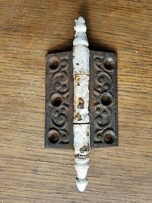 "Antique Victorian Cast Iron 3"" x 2-1/2"" Steeple Pin Door Hinge"