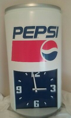 Pepsi Can Clock 70's Vintage Large 23'' x 13'' Christmas Gift for yourself!