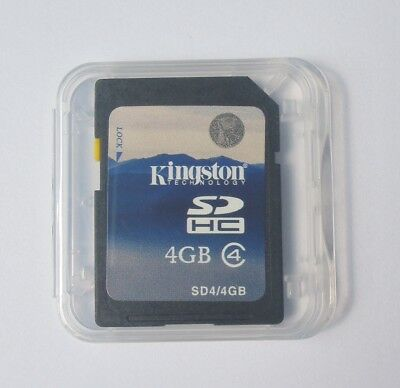 Kingston 4GB SD SDHC Memory Card Class 4 Standard Secure Digital C4 For Cameras
