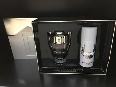 Paco Rabanne INVICTUS 2017 Set 100ml Eau De Toilette EDT & 150ml Deodorant Spra