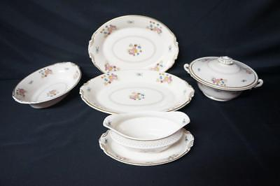 """5 Pcs Syracuse Coventry, 2 Platters 12""""/14"""", Gravy Boat, Covered Vegetable, Oval"""