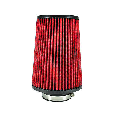 Universal Sport Luftfilter 76mm Rot 240mm Lang Konisch Cold Air Intake Tuning