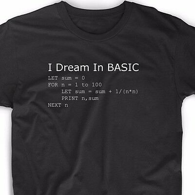 681acfcd2 Basic Programming Language Computer T Shirt Retro Video Game Geek Funny  Nerd Tee