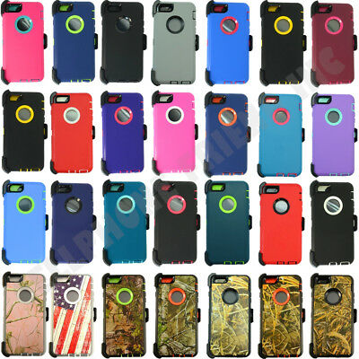 Defender Case for iPhone SE/5S/5C w/Screen Protector & (Belt Clip Fits Otterbox)