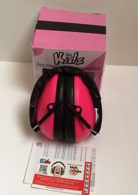 Edz Kidz Ear Defenders Child Light Earmuffs Concert Protect Hearing - Pink