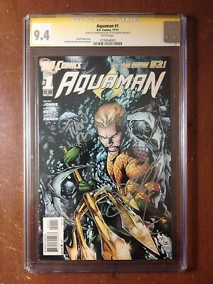 Aquaman #1 (New 52) * CGC SS 9.4 * Signed by Ivan Reis and Jason Momoa!!