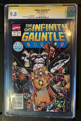 The Infinity Gauntlet #1, #2, & #3 CGC 9.8 #1 Newsstand variant Rare SS Stan Lee