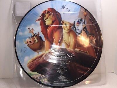 "NEW  Disney Parks Vinyl Record Collection Lion King 12"" PICTURE DISC Simba Nala"