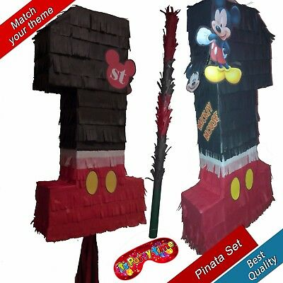 Mickey one Number 1 Boys Pinata Kids Smash Party Stick Mouse Club House 1st No.