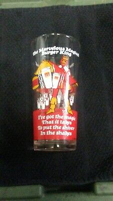 Burger King (C) 1978 Marvelous Magical RARE Shake Glass