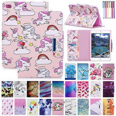 Cute Smart Magnet Leather Flip Stand Case Cover For iPad 2 3 4/Mini/Air/9.7 2018