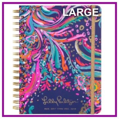 NIP 2017-2018 Lilly Pulitzer LARGE Agenda 17 Month Daily Planner BEACH LOOT🎉
