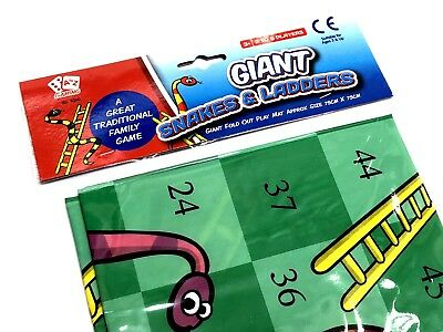 Giant Snakes & Ladders Playmat Outdoor Garden Game Toy Family Party Bag Filler