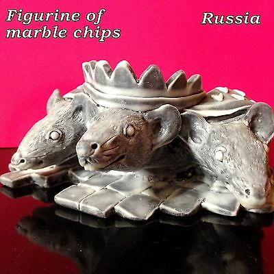 Rat Mouse King ashtray marble chips stand for small items from Russia quality