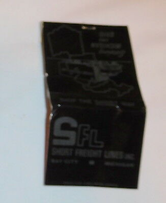 vintage SFL Short Freight Lines Inc Bay City Michigan matchbook Matches