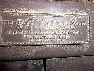 Vntg-antique Allsteel Business Bank Large Size Double Door Steel Iron Safe U.S.A