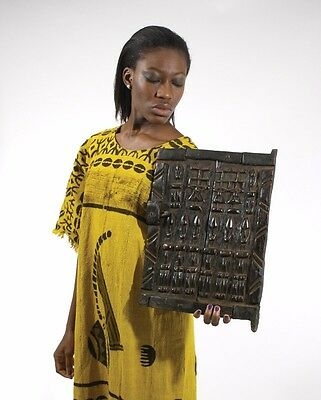 """*** BEAUTIFUL *** Antique African Dogon Carved Granary Door 12"""" X 16""""  SHOP NOW!"""