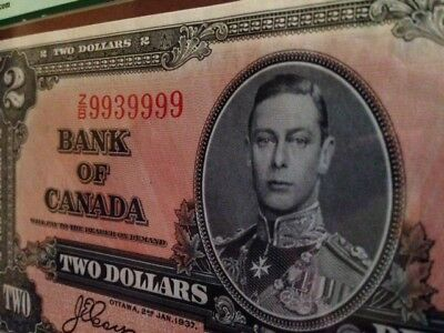 1937 BANK OF CANADA $ 2 TWO DOLLARS COYNE TOWERS Choice about new  58PPQ