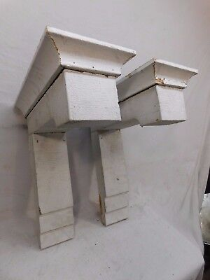 Two Craftsman Style Heavy Wood Porch Corbels - C 1915 Fir Architectural Salvage