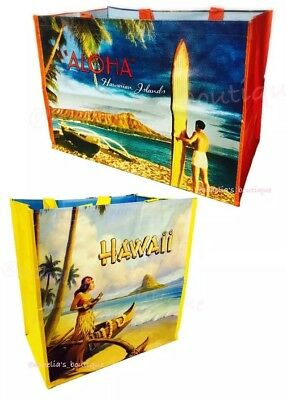 2 HAWAII EXCLUSIVE Costco Reusable Eco Friendly XL Large Shopping Bag Tote Aloha