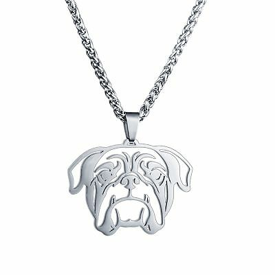 BIG American English Bulldog Bull dog Head Pet Tag Collar Charm Pendant Necklace
