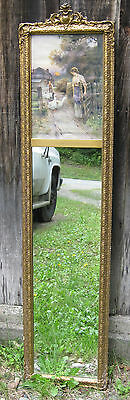 Antique Victorian Mirror Ernest Wabourn Oil Painting Feeding the Geese Rare