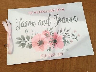 A4 Personalised Guest Book/ Photo Album- Wedding, Christening, Birthday - WD01