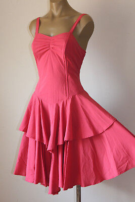 """Chic! Vintage """"French Rouge"""" Swingy Layered Party Sun Dress 8"""