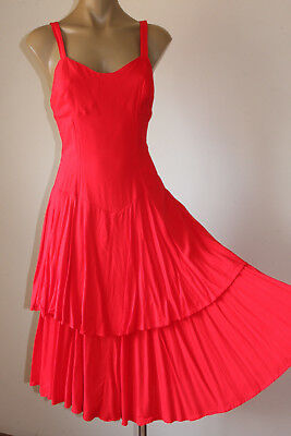 """Chic! Vintage """"French Ruby"""" Swingy Layered Party Sun Dress 12"""