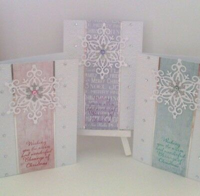 Handmade Christmas Card Set: Star Snowflake(3 Cards)