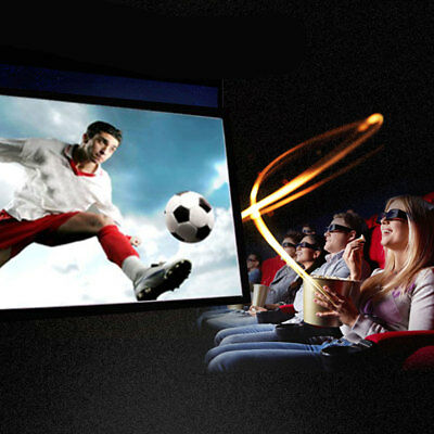 Projection Screen Projector Curtain Durable Portable 16:9 HD Church Business