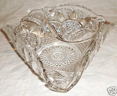 A Beautiful Vintage Folded Pressed Glass Dish