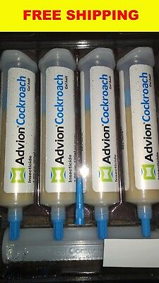4 x 30g Advion Cockroach German Roach Control Bait Gel Plunger Tips