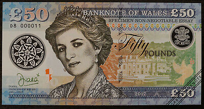 50 pounds Diana Wales/uncirculated polymer proposal banknote design 2017