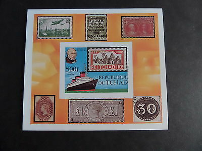 Chad 1979 Death Cent Rowland Hill MS582 MS imperf ship  MNH UM unmounted mint