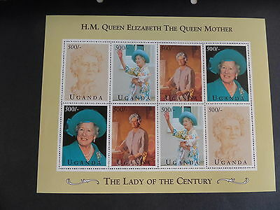 Uganda 1995 Queen Mother 95th Birthday Sheetlet MNH UM unmounted mint