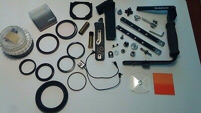 Large Lot Of vintage Camera Accessories HOYA COKIN ROLLEI  Filters Step Up Rings