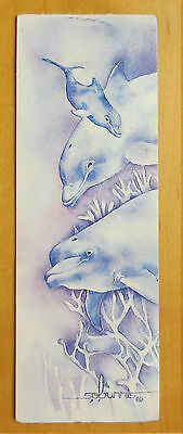 #A9 VINTAGE GENTLY USED Dolphin Bookmark Magnetic