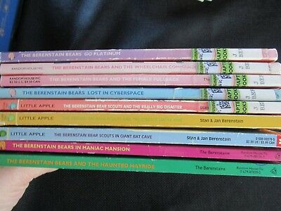 Lot of 9 Berenstain Bears Chapter Books Bear Scouts, Go Platinum, Cyberspace