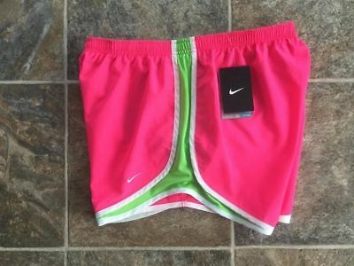 New! ~*nike Tempo Dri-Fit Athletic Running Shorts*~ Neon Hot Pink /green Size L