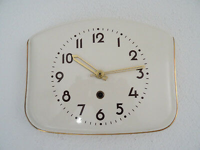 Retro Vintage Ceramic Kitchen Wall Clock Art Deco (Junghans Kienzle Mauthe era)