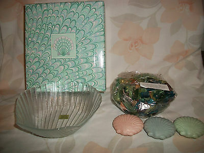 Avon Shimmering Sea Soaps Potpourri And Glass Dish Shaped As A Seashell