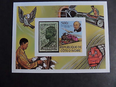 Ivory Coast 1979 Death Cent Rowland Hill MS599 MS IMPERF MNH UM unmounted mint